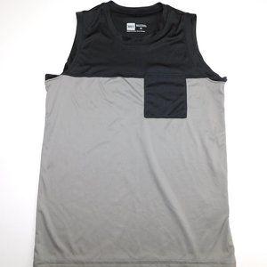 MEC Boys 12 Black Gray Tank Top